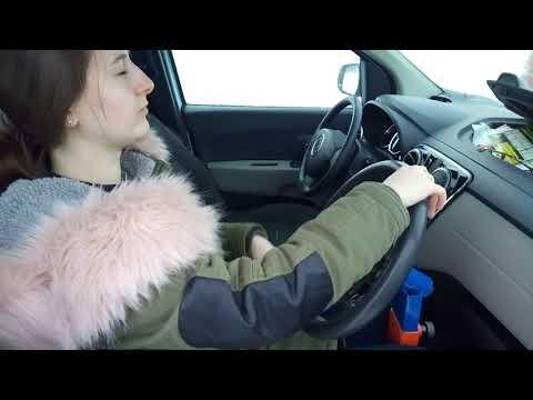Зимнее вождение 11.02.18 Настя крутит тренажер