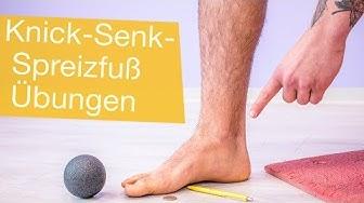 Knick-Senk-Spreizfuß Übungen ✅