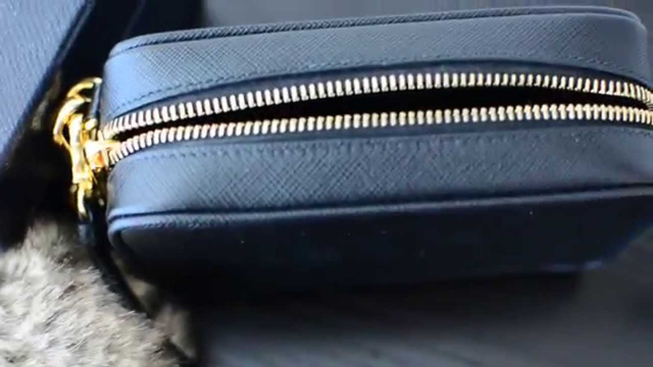 womens prada wallet - Prada Saffiano Crossbody Camera Bag Purse Review - YouTube