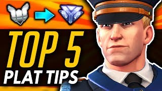 Overwatch | Top 5 Ranked Tips 2019 - The Plat To Diamond Experience