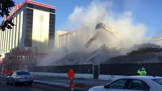 Las Vegas Club Hotel Tower Turns to Dust