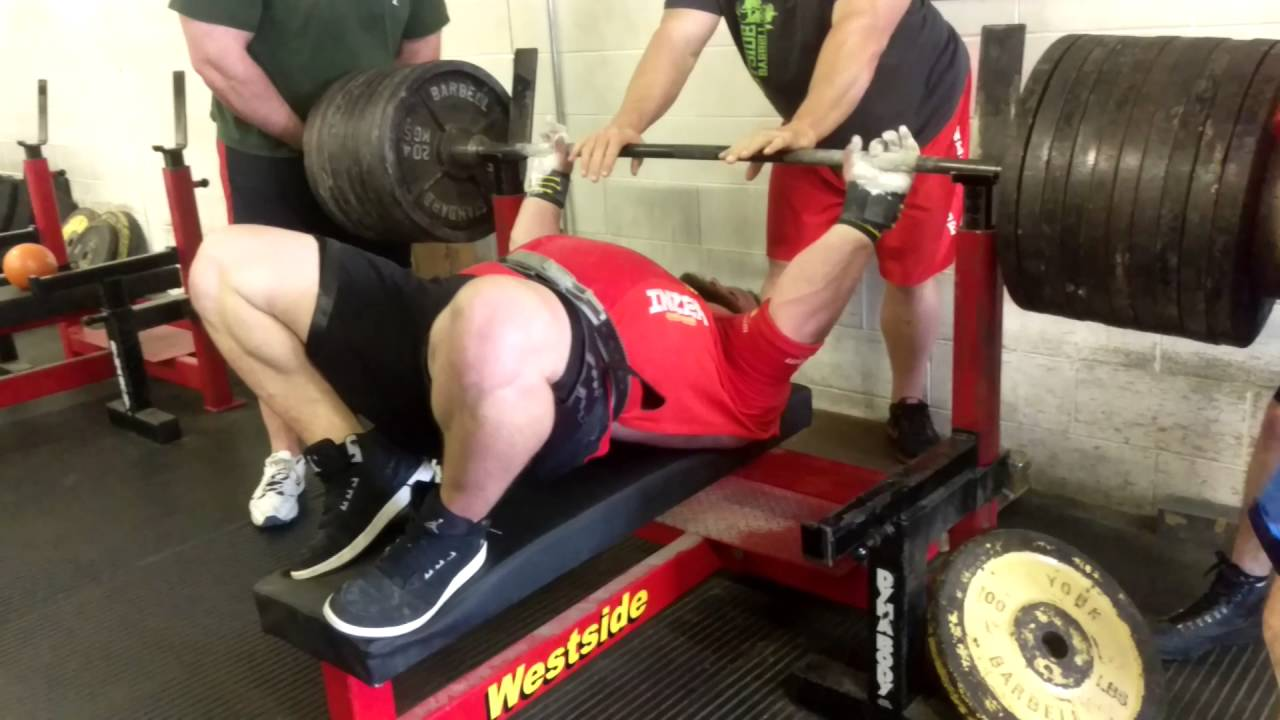 dave hoff 1,020lbs 2 board bench press 2016 - youtube
