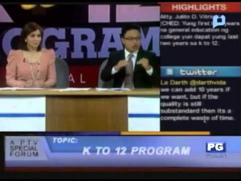 The K to 12 Program (Part 1/3) - PTV Special Forum - [February 6, 2013]