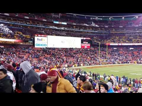 Controversy at end of Redskins Giants Game