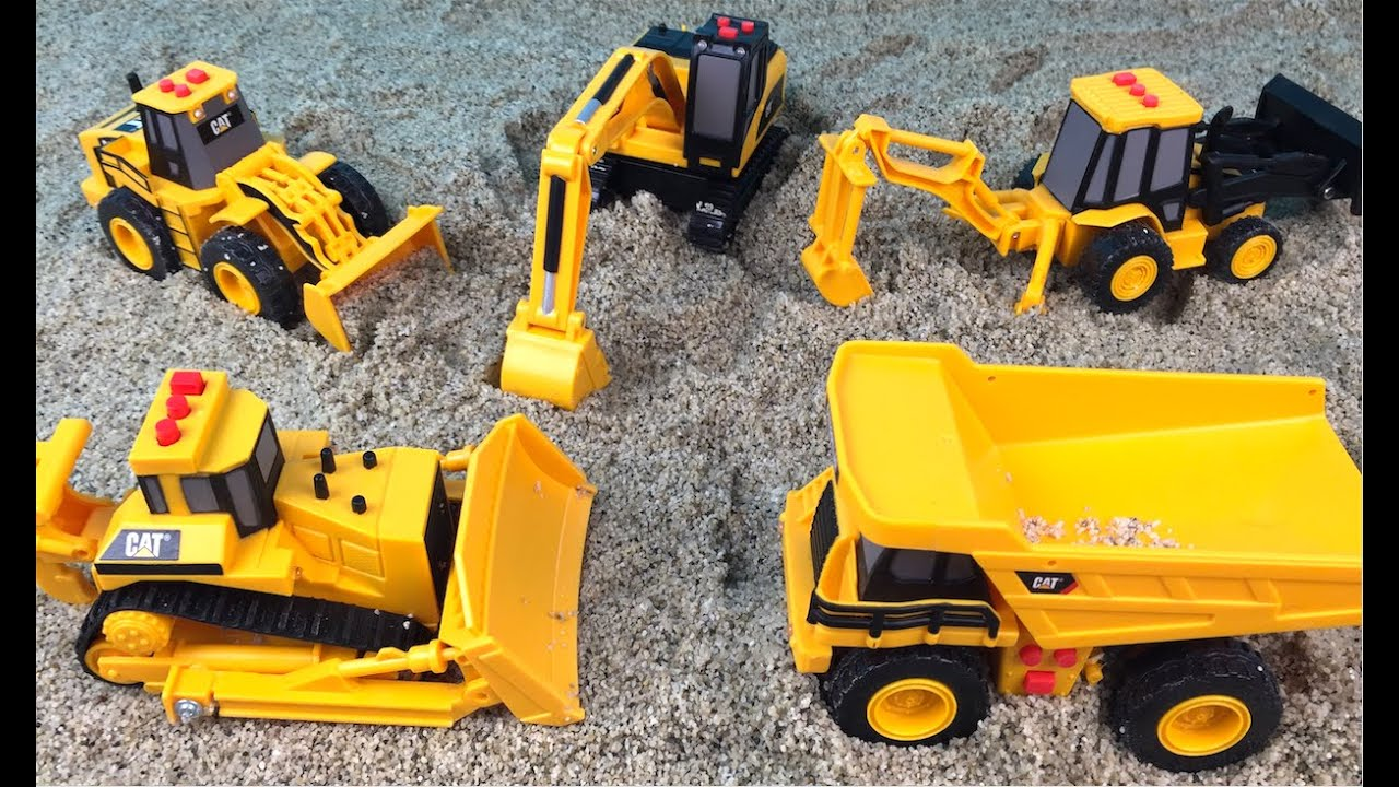 cat construction mini mighty machines excavator bulldozer dump truck