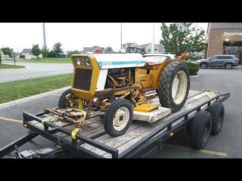 1970 International Lo Boy Cub 154 Tractor With Mower Deck