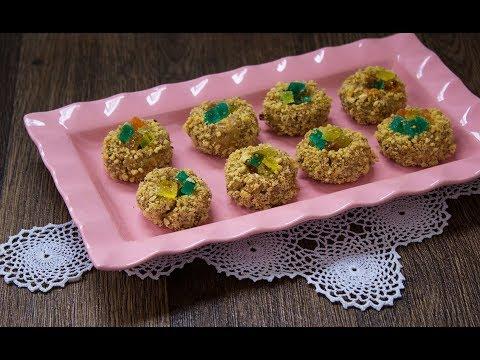 Brzi sitni kolači od nekoliko sastojaka - Gnezda punjena žele bombonama