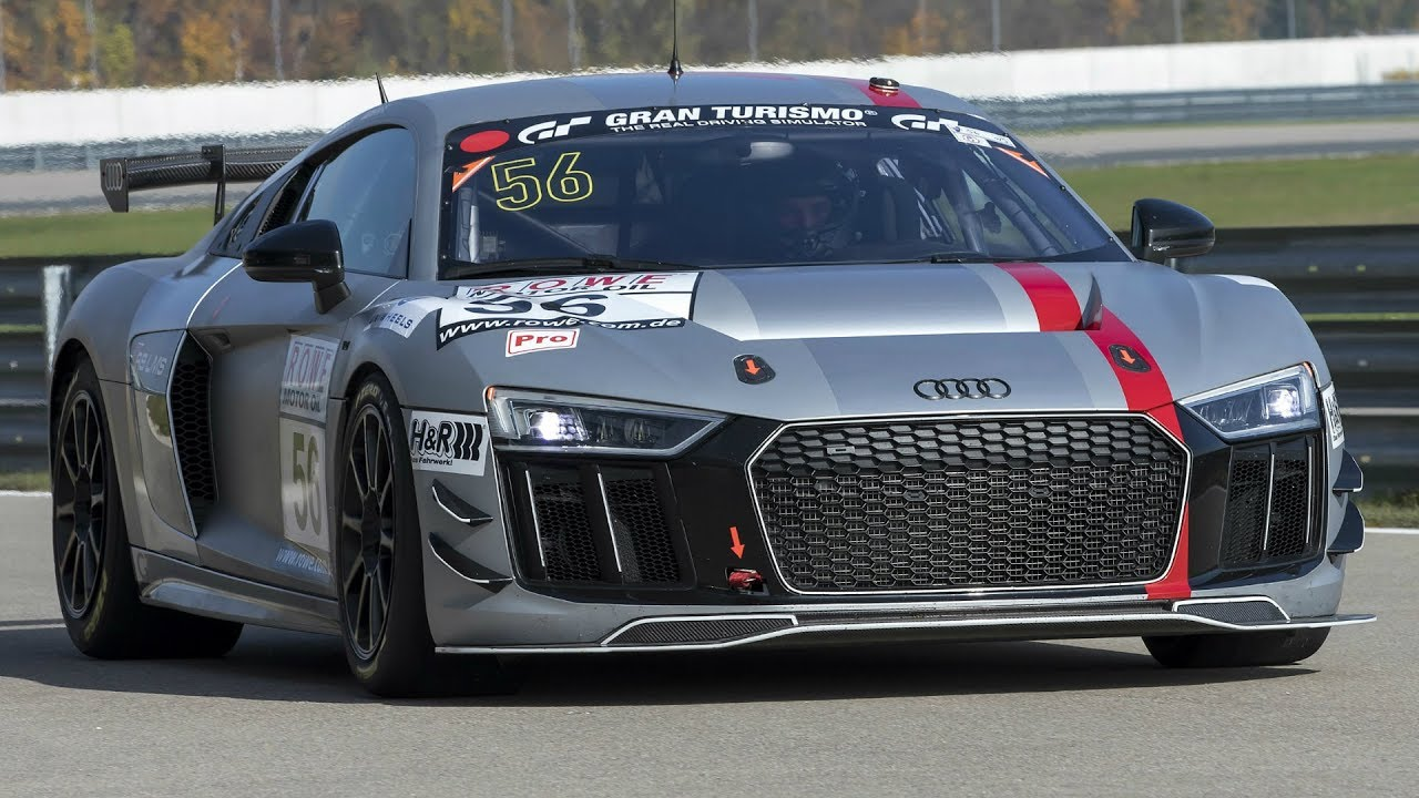Audi R8 Lms Gt4 On The Race Track Youtube