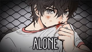 【Nightcore】→ Alone || Lyrics