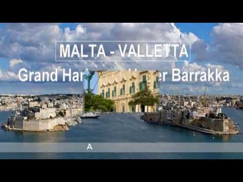 MALTA - Valletta: Grand Harbour & Upper Barrakka