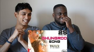 GHUNGROO Song Reaction!   War   Hrithik Roshan, Vaani Kapoor   ft, Arijit Singh, Shilpa Rao