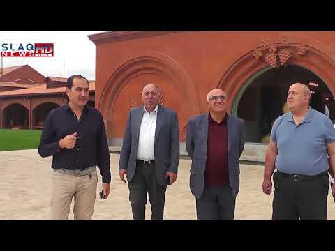Slaq.am.Արդյունաբերողների և գործարարների միության նախագահի շրջայցը՝ «Armenia Wine»-ում