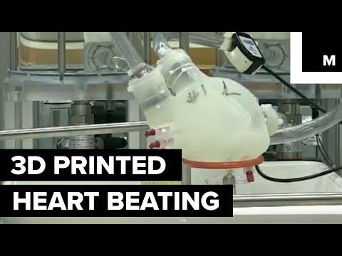 3D printed heart beats