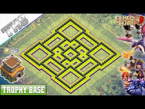 BEST Town Hall 8 (TH8) TROPHY Base 2019 With REPLAY!! TH8 Base Design/Defense - Clash Of Clans