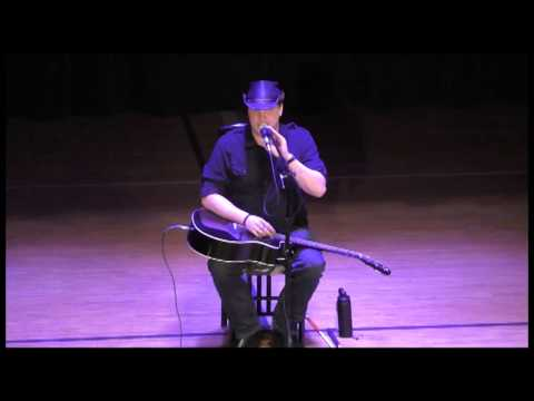 Blind Joe Bommersbach performs at Backus 123015