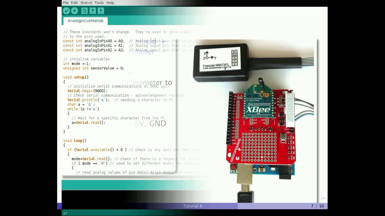 Matlab arduino tutorial wireless xbee communication