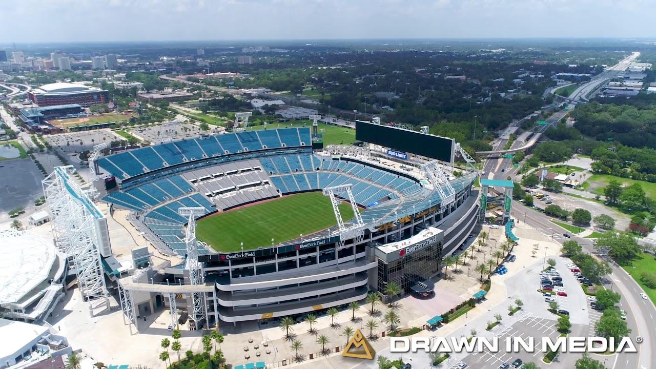 EverBank Field Jacksonville Jaguars Stadium | Aerial Video | Jacksonville  Video Production