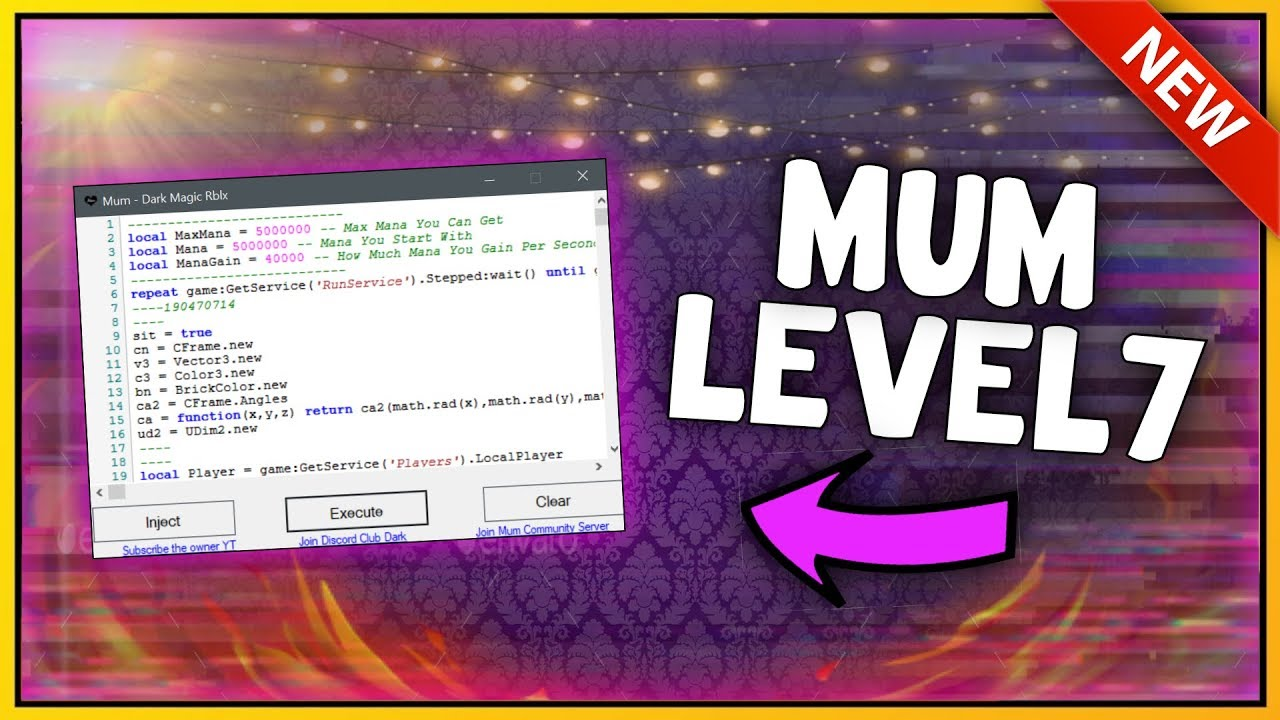 New Roblox Exploit Mum Patched Unrestricted Level 7 Script