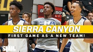 Dwyane Wade Watches Bronny & Zaire in First Sierra Canyon Game!