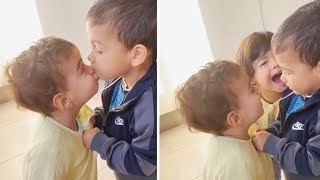 Cristiano Ronaldo children funny moment Mateo care of Alana and chases away from himself Evа