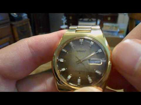 Changing Day Date on a Vintage 1978 Seiko S.G.P. Automatic 17-Jewels Japan Mens Watch
