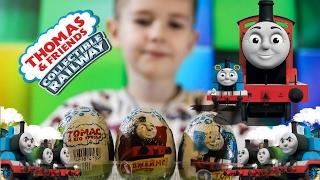 Игрушки ТОМАС в Киндер Сюрприз ПАРОВОЗИК ТОМАС и его друзья Egg surprise Thomas and friends