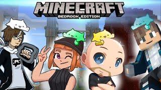 Minecraft - We Built This City! [Bedrock Survival ft. ThatBaldGamer, AminaSync, and AuraOfTheQ!]