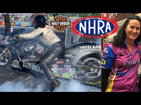 FAST FEMALE TESTING TO BE FIRST WOMAN IN NHRA TOP FUEL NITRO HARLEY AND TURBO HAYABUSA, NITROUS BIKE