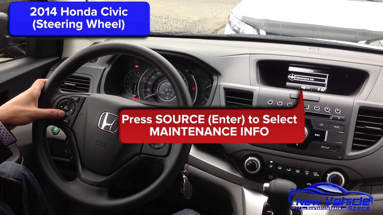 2014 Honda Civic Oil Light Reset / Service Light Reset - YouTube