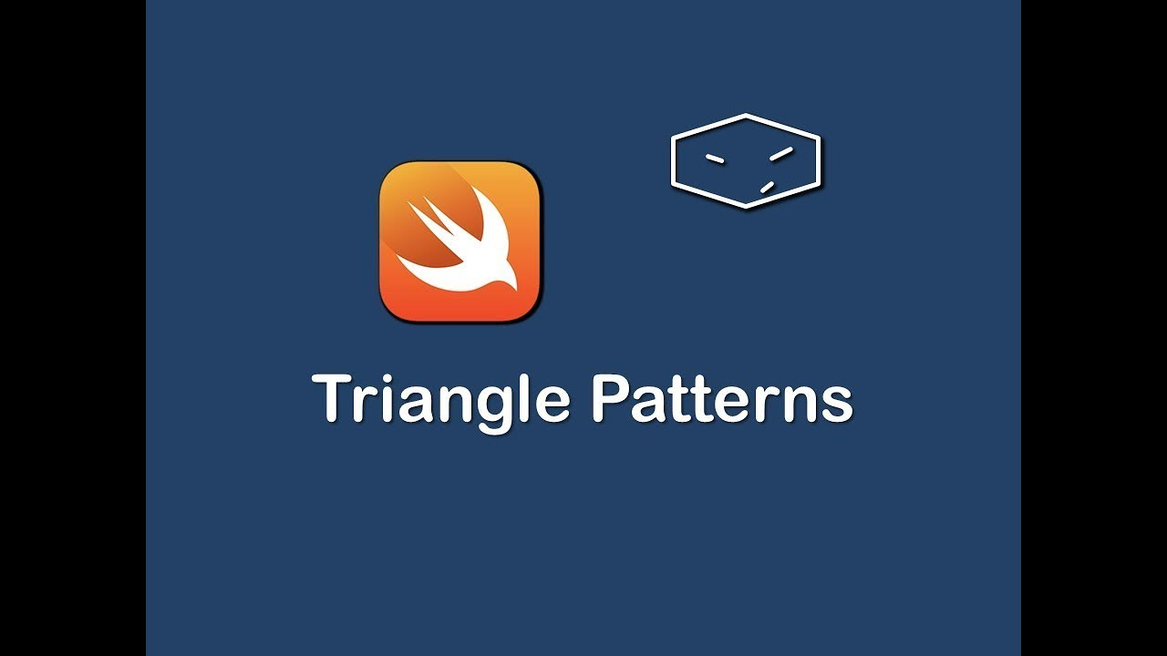 triangle patterns in swift 3