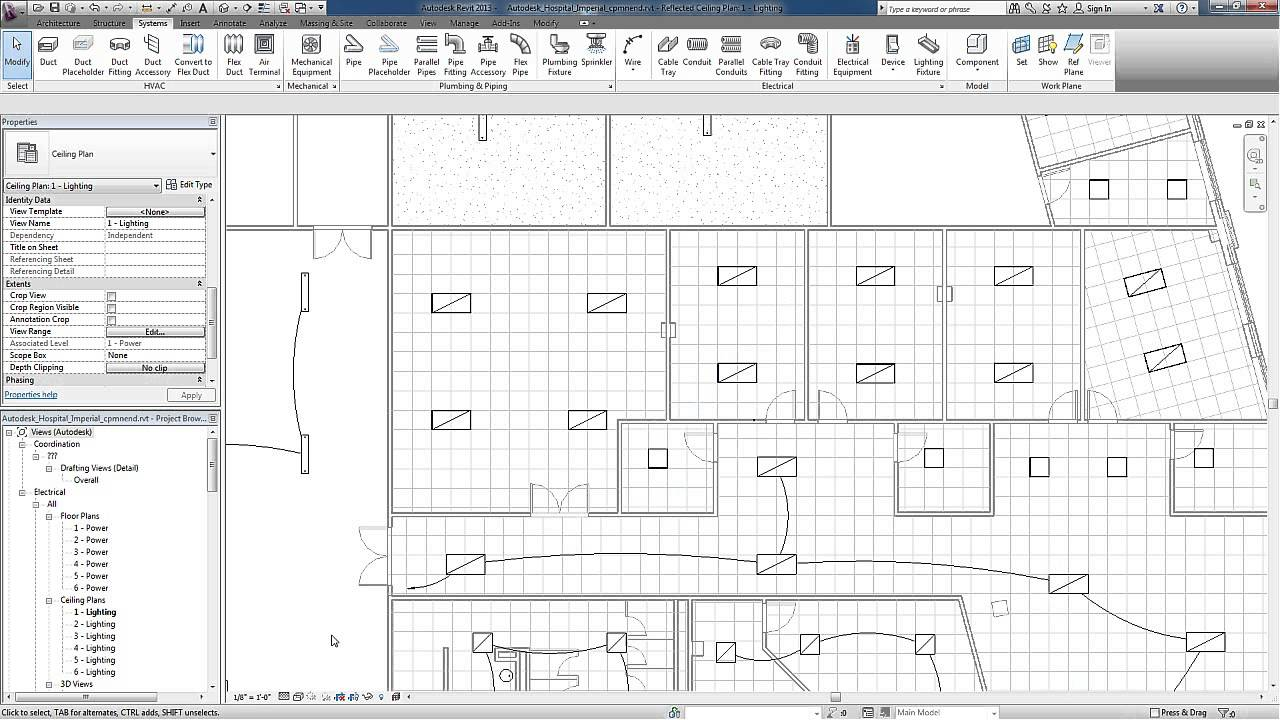 Revit for MEP  Electrical Lighting Systems  Circuits