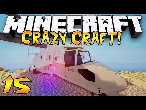 """EPIC HELICOPTER!"" - Crazy Craft 2.1 (Minecraft Modded Survival) - #15"
