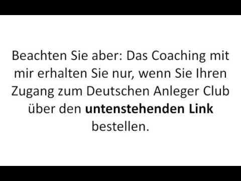 Deutscher Anleger Club - Erfahrungsbericht