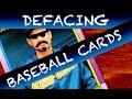 Defacing Baseball Cards - Card ASMR