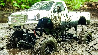 RC MUDDING 4x4 Mega MUD Truck DEEP BOGGING Ford F350 Powerstroke Scale RC