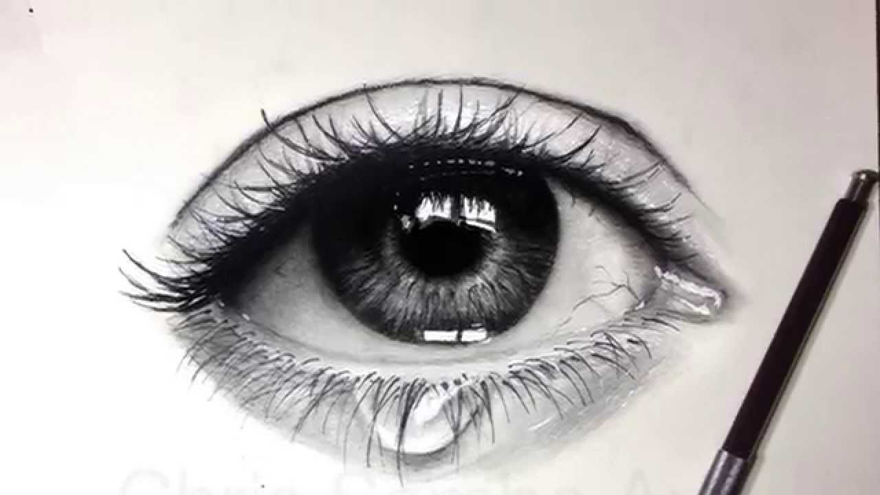 Drawing a realistic eye with charcoal youtube