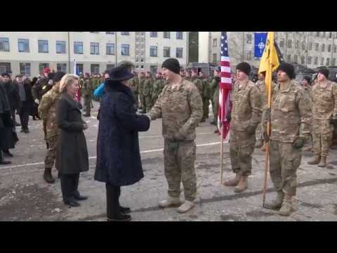 Lithuania welcome ceremony for NATO troops