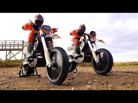 RC ADVENTURES - DUAL 1/4 scale ARX540 Motocross Bikes - First Run at the Track
