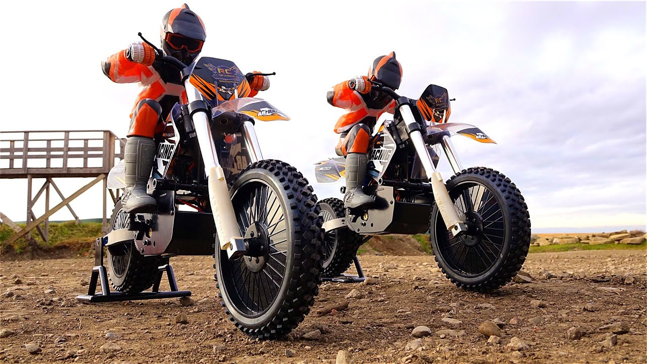 rc adventures dual 1 4 scale arx540 motocross bikes. Black Bedroom Furniture Sets. Home Design Ideas