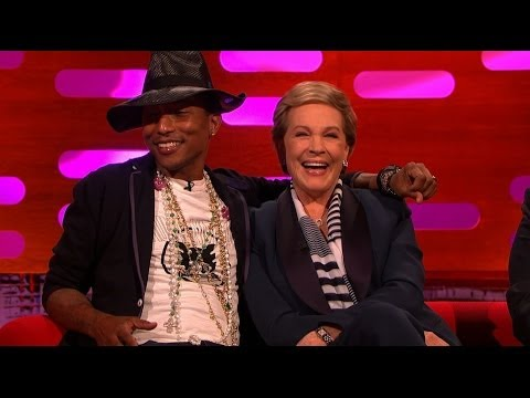 Pharrell competes for the attention of Julie Andrews - The Graham Norton Show: Episode 8 - BBC One