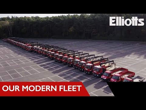 Delivery Vehicles Aerial Drone Tour | Elliotts Builders Merchant