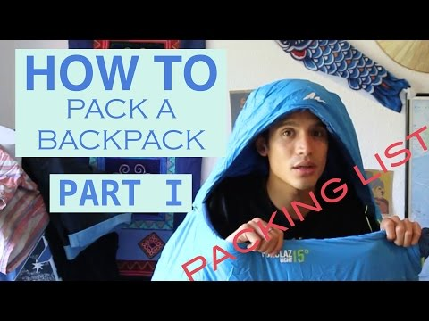 How to pack a backpack? Packing list (Part 1)