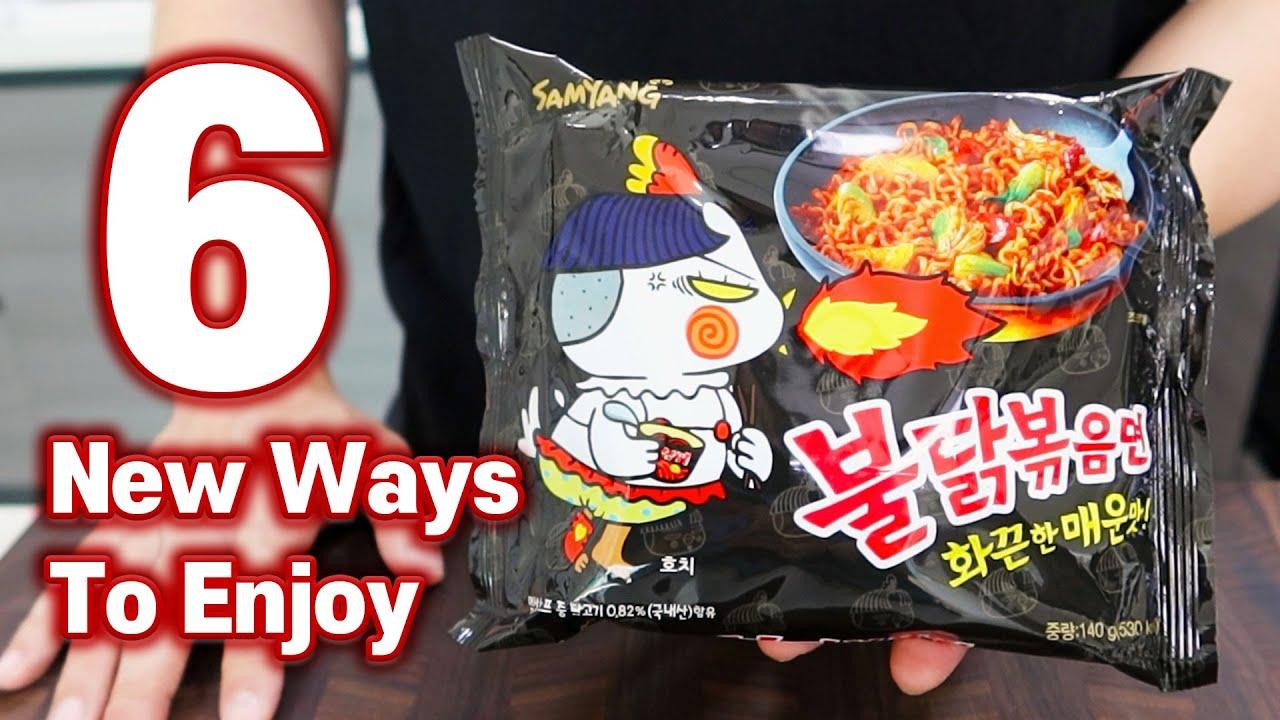 6 NEW WAYS TO ENJOY KOREAN SPICY FIRE NOODLES!