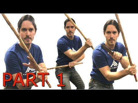 1 Drill 3 Weapons - Kali Escrima Arnis Stick Fighting Techniques
