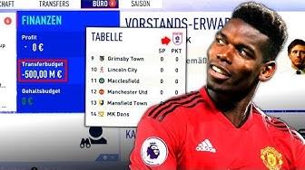 FIFA 19 : ZWANGSABSTIEG IN 4. LIGA + 500 MIL SCHULDEN !!! 😳😂 Man United Special Sprint To Glory