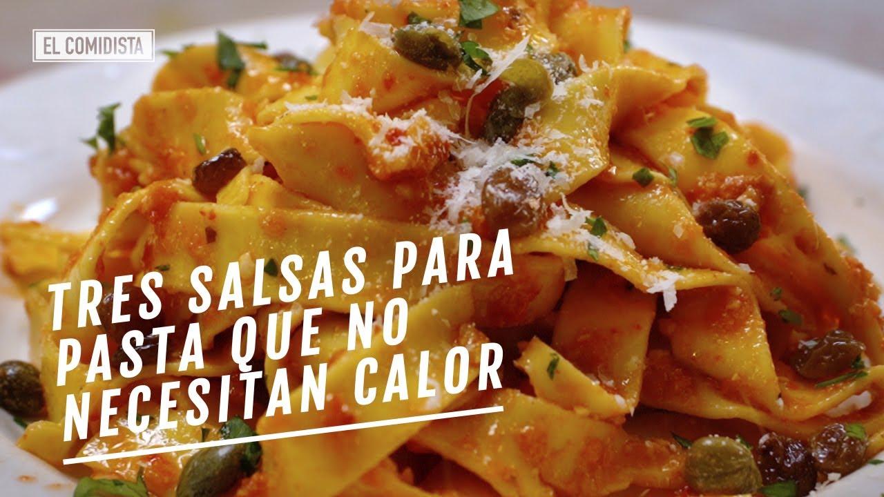 Tres salsas para pasta que no necesitan calor   EL COMIDISTA