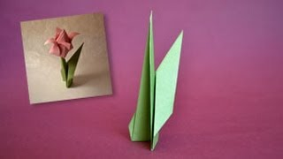 Origami Flower Stem Instructions: Www.origami-fun.com