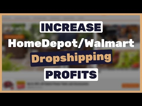 How to increase HomeDepot Walmart dropshipping profits by thousands of dollars | Special TIP