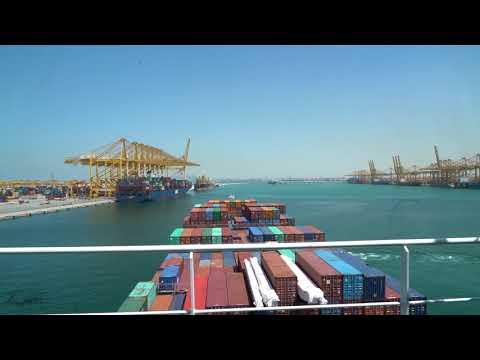 Cargo ship arrival at Jebel Ali Port | Dubai Port | Raikar Films