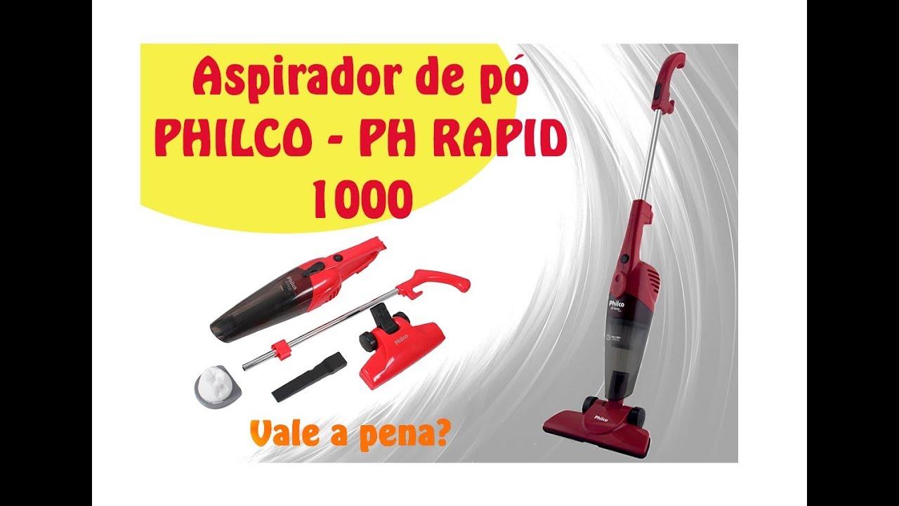 d1e5f66ba Aspirador de Pó - PHILCO - Ph Rapid 1000 (aspirador em vassoura ...